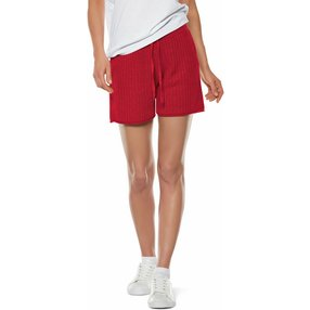 FALKE Damen Shorts, XS, Rot, Struktur, Leinen, 64061-878401