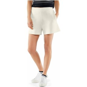 FALKE Damen Shorts, XS, Weiß, Uni, Baumwolle, 64047-204001