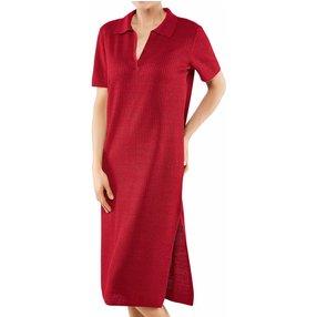 FALKE Damen Kleid Polo, S, Rot, Struktur, Leinen, 64057-878402