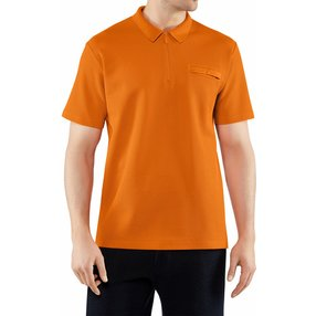 FALKE Herren Polo-Shirt, M, Orange, Uni, Baumwolle, 62043-826103