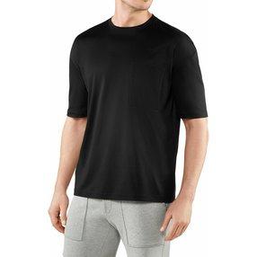FALKE Herren T-Shirt Rundhals, M, Schwarz, Uni, Baumwolle, 62044-300003