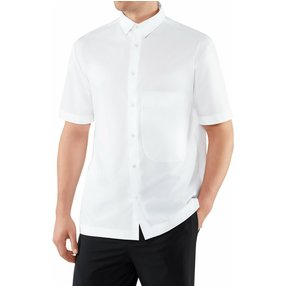 FALKE Herren Hemd, 54, Weiß, Uni, Baumwolle, 62027-200005