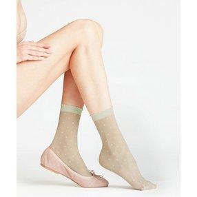 FALKE Dot 15 DEN Damen Socken, 39-42, Grün, Punkte, 41452-712702