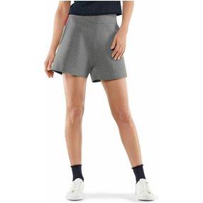 FALKE Damen Shorts, XS, Grau, Uni, Baumwolle, 64047-340001