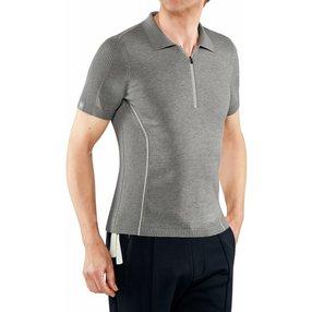 FALKE Herren Polo-Shirt, S, Grau, Baumwolle, 60082-340001