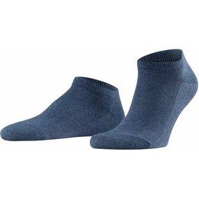 FALKE Family Herren Sneakersocken, 47-50, Blau, Uni, Baumwolle, 14626-649004