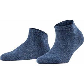 FALKE Family Damen Sneakersocken, 39-42, Blau, Uni, Baumwolle, 47629-649902