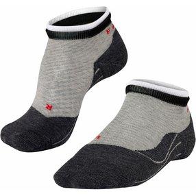 FALKE RU4 Short Bulges Damen Sneakersocken, 35-36, Grau, Streifen, Baumwolle, 16758-340201