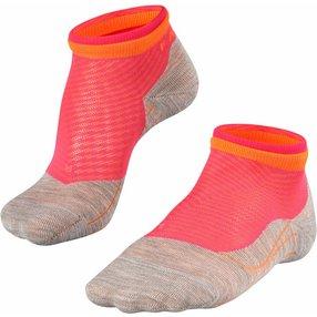 FALKE RU4 Short Bulges Damen Sneakersocken, 41-42, Rot, Streifen, Baumwolle, 16758-856404