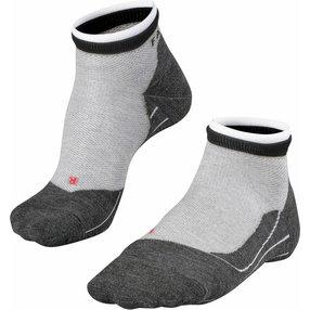 FALKE RU4 Short Bulges Herren Sneakersocken, 44-45, Grau, Streifen, Baumwolle, 16757-340204