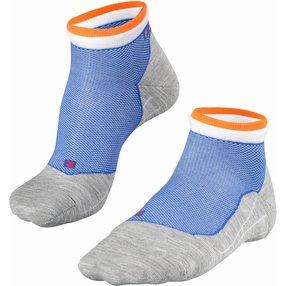 FALKE RU4 Short Bulges Herren Sneakersocken, 42-43, Blau, Streifen, Baumwolle, 16757-671203