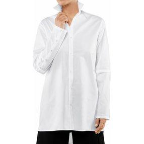 FALKE Damen Bluse Stehkragen, 40, Weiß, Uni, Baumwolle, 66035-200003