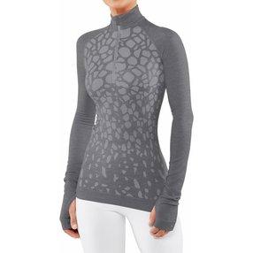 FALKE Damen Langarmshirt Wool-Tech, L, Grau, Schurwolle, 33219-375704