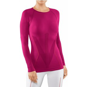 FALKE Damen Langarmshirt Warm, S, Pink, Uni, 39111-828402