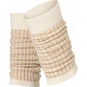 FALKE Chain Stitch Damen Stulpen, Onesize, Beige, Struktur, Schurwolle, 46897-454101