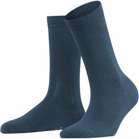 FALKE Family Damen Socken, 35-38, Blau, Uni, Baumwolle, 47675-653501