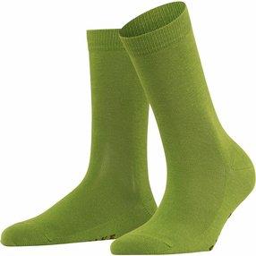 FALKE Family Damen Socken, 35-38, Grün, Uni, Baumwolle, 47675-718701