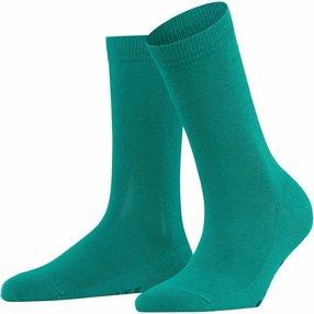 FALKE Family Damen Socken, 39-42, Grün, Uni, Baumwolle, 47675-720502