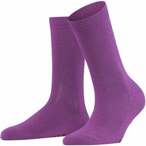FALKE Family Damen Socken, 35-38, Pink, Uni, Baumwolle, 47675-831701