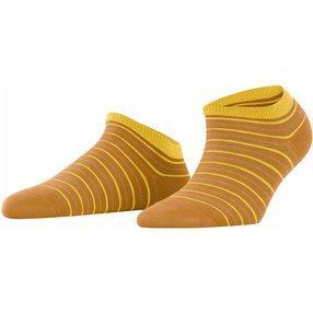 FALKE Stripe Shimmer Damen Sneakersocken, 35-38, Gelb, Streifen, Baumwolle, 46336-185101