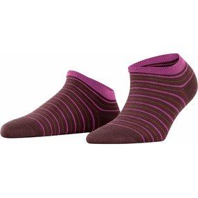 FALKE Stripe Shimmer Damen Sneakersocken, 35-38, Braun, Streifen, Baumwolle, 46336-563001