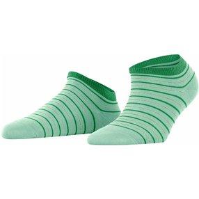 FALKE Stripe Shimmer Damen Sneakersocken, 35-38, Grün, Streifen, Baumwolle, 46336-718801