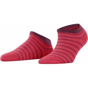 FALKE Stripe Shimmer Damen Sneakersocken, 35-38, Rot, Streifen, Baumwolle, 46336-807201