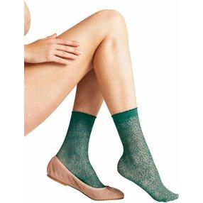 FALKE Danty Daisy 15 DEN Damen Socken, 35-38, Grün, Blumen, 41440-720501