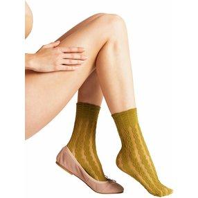 FALKE Oasis 60 DEN Damen Socken, 35-38, Grün, Struktur, 41442-718601