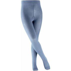 FALKE Cotton Touch Kinder Strumpfhose, 134-146, Blau, Uni, Baumwolle, 13870-604505