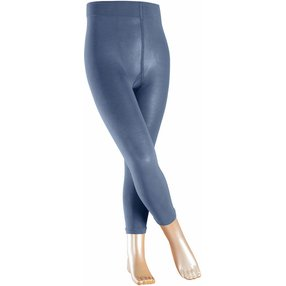 FALKE Cotton Touch Kinder Leggings, 98-104, Blau, Uni, Baumwolle, 13830-604502