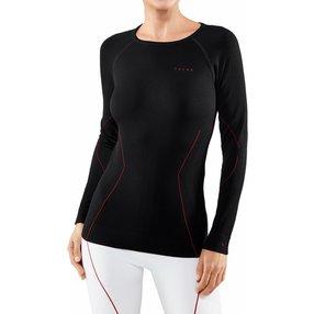 FALKE Damen Langarmshirt Maximum Warm, XL, Schwarz, Uni, 33037-301805