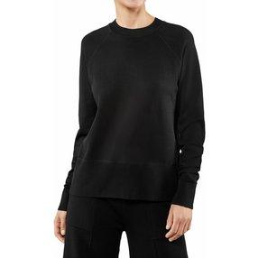 FALKE Damen Pullover Rundhals, M, Schwarz, Uni, 64138-300003