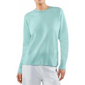 FALKE Damen Pullover Rundhals, XS, Blau, Uni, 64138-658701