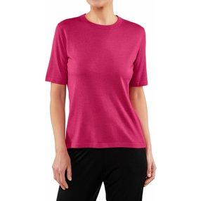 FALKE Damen T-Shirt Rundhals, M, Pink, Uni, Kaschmir, 64141-845303