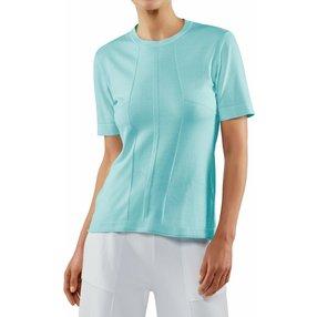 FALKE Damen T-Shirt Rundhals, XS, Blau, Struktur, Baumwolle, 64147-658701