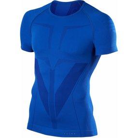 FALKE Herren Kurzarmshirt Warm, XL, Blau, Uni, 39613-671405
