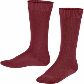 FALKE Comfort Wool Kinder Kniestrümpfe, 31-34, Rot, Uni, Schurwolle, 11488-883004