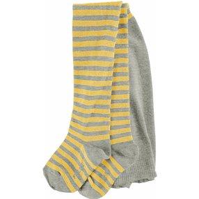 FALKE Stripe Baby Strumpfhose, 74-80, Grau, Streifen, Baumwolle, 13840-382003