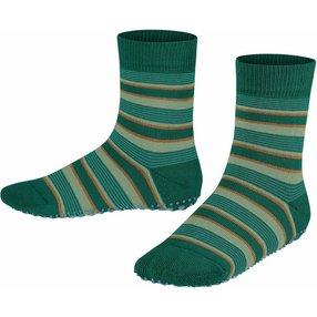 FALKE Mixed Stripe Kinder Socken, 31-34, Grün, Streifen, Baumwolle, 12268-795004