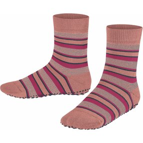 FALKE Mixed Stripe Kinder Socken, 35-38, Rosa, Streifen, Baumwolle, 12268-880305