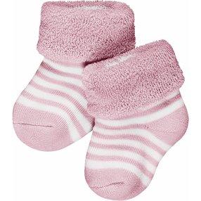 FALKE Erstlingsringel Baby Geschenkbox, 50-56, Rosa, Streifen, Baumwolle, 10040-866308
