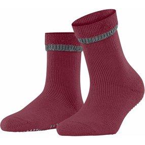 FALKE Cuddle Pads Damen Socken, 35-38, Rot, Uni, Baumwolle, 47540-841301