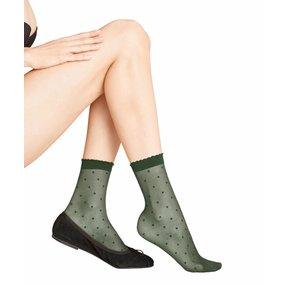 FALKE Dot 15 DEN Damen Socken, 35-38, Grün, Punkte, 41452-727201