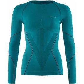 FALKE Damen Langarmshirt Warm, XS, Blau, Uni, 39111-779101