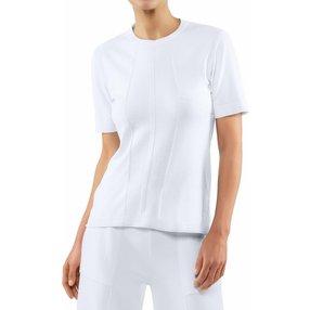 FALKE Damen T-Shirt Rundhals, M, Weiß, Struktur, Baumwolle, 64147-200003