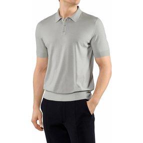 FALKE Herren Polo-Shirt, XXL, Grau, Uni, Schurwolle, 60133-317306