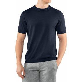FALKE Herren T-Shirt Rundhals, S, Blau, Uni, Baumwolle, 60151-643702