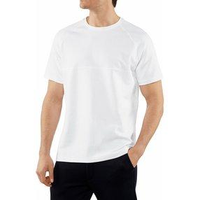 FALKE Herren T-Shirt Rundhals, L, Weiß, Baumwolle, 62062-200004