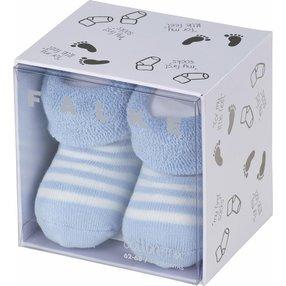 FALKE Erstlingsringel Baby Geschenkbox, 50-56, Blau, Streifen, Baumwolle, 10040-625008